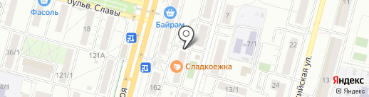 Батарейка на карте Уфы