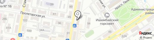 Магазин тканей на карте Ишимбая