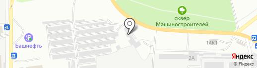 Центр авторемонта на карте Ишимбая