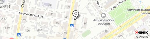 Анастасия на карте Ишимбая