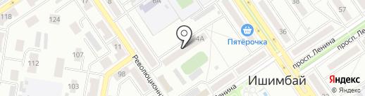 Стелла на карте Ишимбая