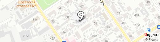 Детский сад №6 на карте Ишимбая