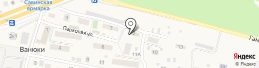 Магазин овощей и фруктов на карте Ванюков