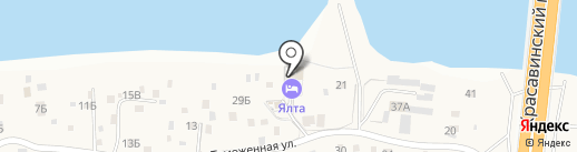 Ялта на карте Берега Камы
