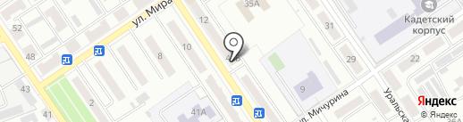Новосёл на карте Ишимбая