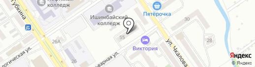 Инзер на карте Ишимбая