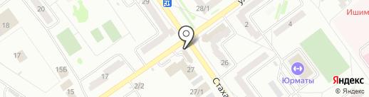Ермолино на карте Ишимбая