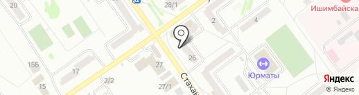Мастерская по ремонту обуви на карте Ишимбая