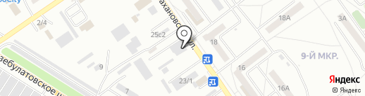 Лима-РБ на карте Ишимбая