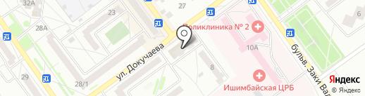 Сакура на карте Ишимбая