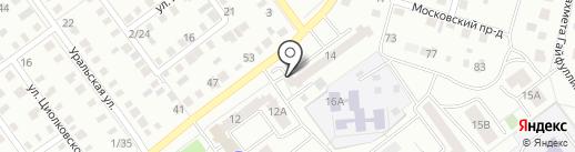 На Докучаева на карте Ишимбая