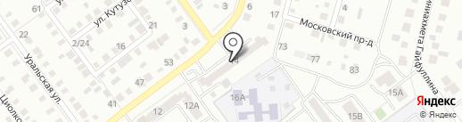 Продовольственный магазин на ул. Докучаева на карте Ишимбая