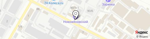 Новоженовский на карте Уфы