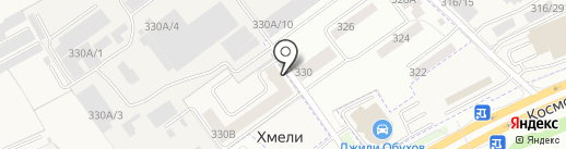 Гранат на карте Перми