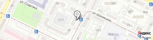 Изумрудный на карте Уфы