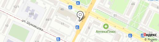 Киоск по продаже газет и журналов на карте Уфы