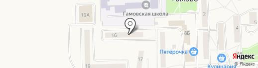Гамовская сельская врачебная амбулатория на карте Гамово