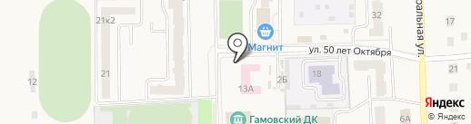 Автостоянка на карте Гамово