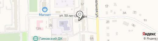 Пермский краевой многофункциональный центр предоставления государственных и муниципальных услуг на карте Гамово