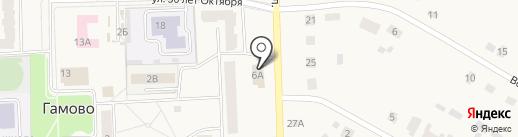 Сеть продуктовых магазинов на карте Гамово