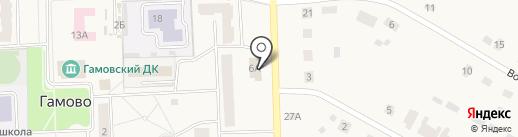 Банкомат, Банк Москвы на карте Гамово