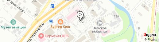 Храм-часовня во имя святителя Николая Чудотворца на карте Перми