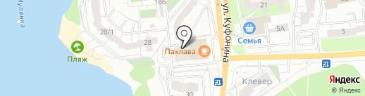 Мясной пассаж на карте Перми