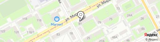 Трикотажка на карте Перми