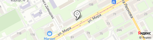 Одежкин на карте Перми