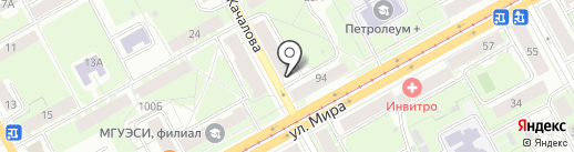 Ирбис на карте Перми