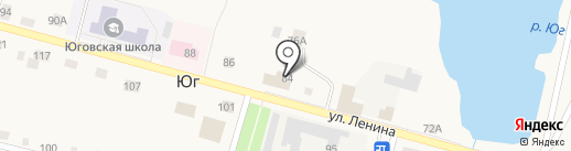 Торсел на карте Юга