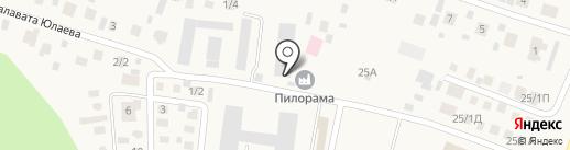 Башкирский Дом на карте Акбердино