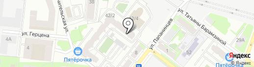 Барамзиной, ТСЖ на карте Перми