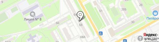 Москвичка на карте Перми