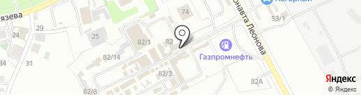 Пилот на карте Перми