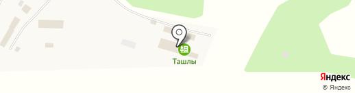 Ташлы на карте Акбердино