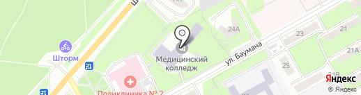 Футбольная школа на карте Перми