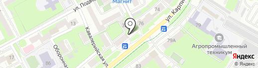 Кафе фастфудной продукции на карте Перми