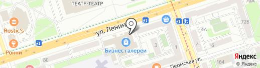 Эб-Эго, ПО на карте Перми