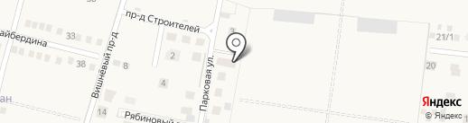Акбердино Вилледж на карте Акбердино