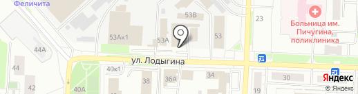 Идилио на карте Перми