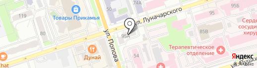 Пермь-Екатеринбург-Пермь на карте Перми