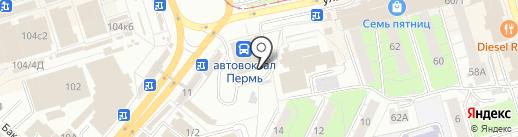 Платный общественный туалет на карте Перми