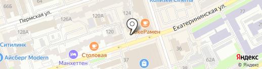 White lines на карте Перми