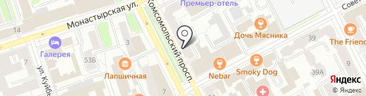 Центральный выставочный зал г. Перми на карте Перми