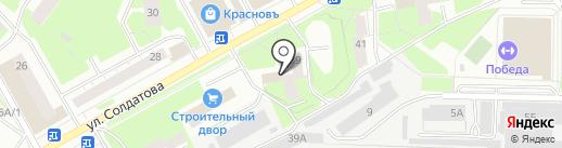 Краснова на карте Перми