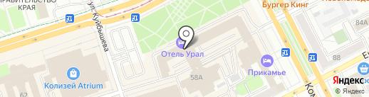 Строгановские погреба на карте Перми