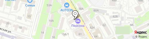 Разливаево на карте Перми