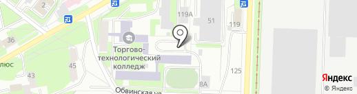 Автостоянка на карте Перми