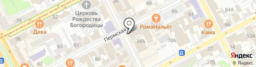 Элемент роскоши jeans door на карте Перми